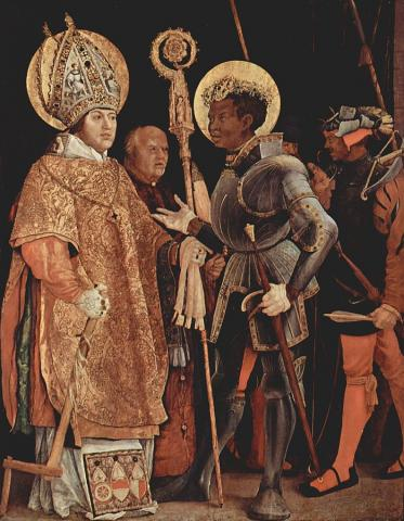 The Meeting of Saint Maurice and Saint Erasmus, Grünewald ca 1520