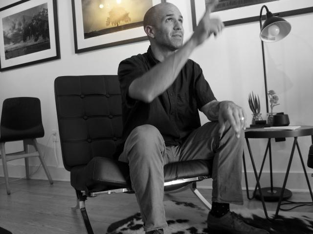 Zack Smith in his studio