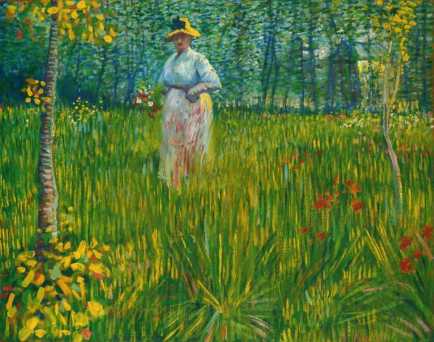 Woman in Garden by Vincent Van Gogh